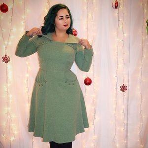 Tatyana Boutique long sleeved green dress